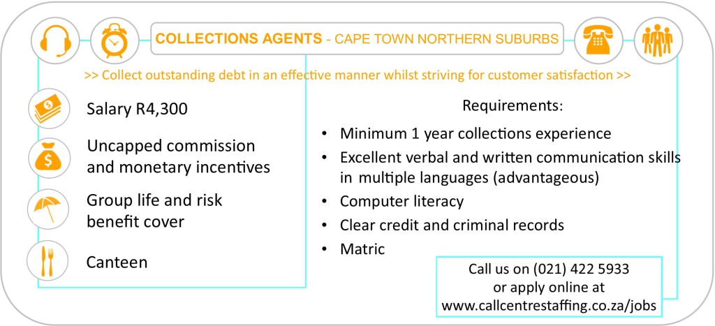 Collections Agent Cape Town