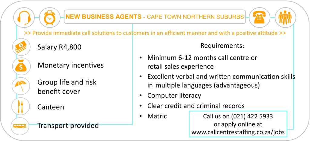 New Business Agents Cape Town